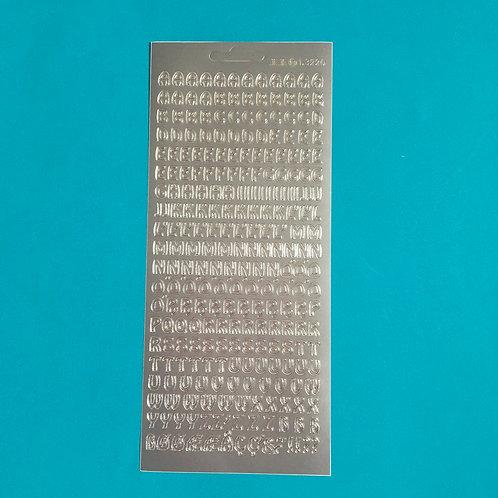Craft Silver Alphabet  Stickers. Upper case