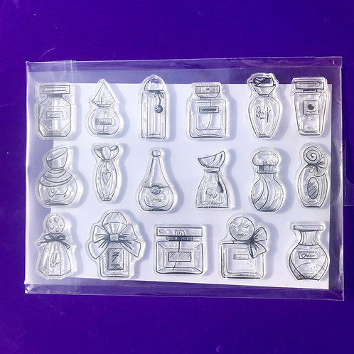 Perfume bottle stamps