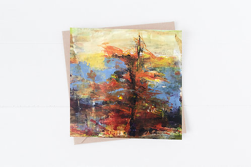 Blank Greeting Card. Greetings Cards. Fir tree.