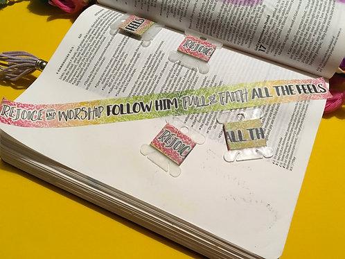 Christian Washi Tape Sample. Bible Washi Tape.