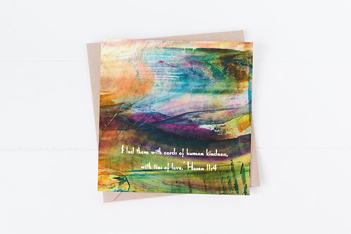 Christian Greeting Card. Bible verse card.