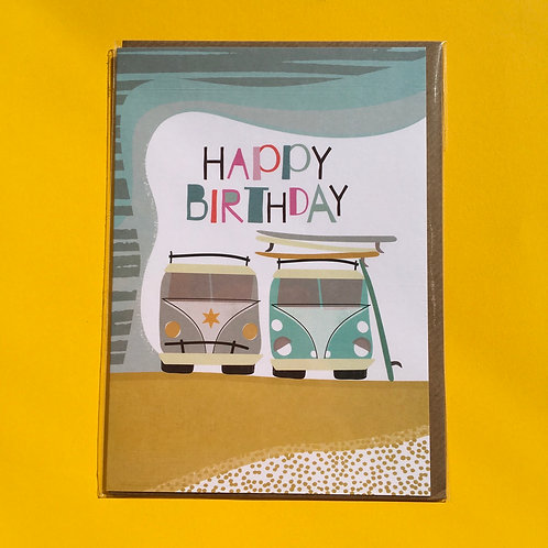 Happy Birthday VW Greeting Card