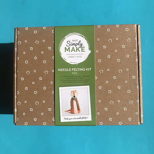 Fox Needle felting kit. Docraft craft kit. Christmas Present.