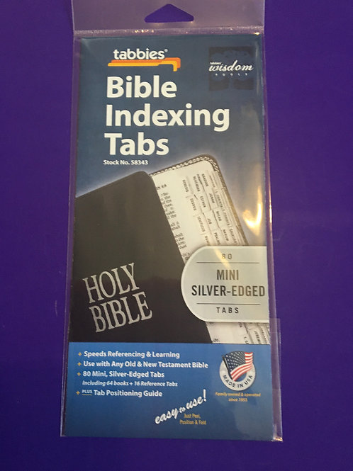 Bible Indexing Mini Silver Edged Tabs