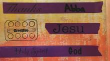 Christian Washi Tape Rolls & the NIV Verse Mapping Journaling Bible.