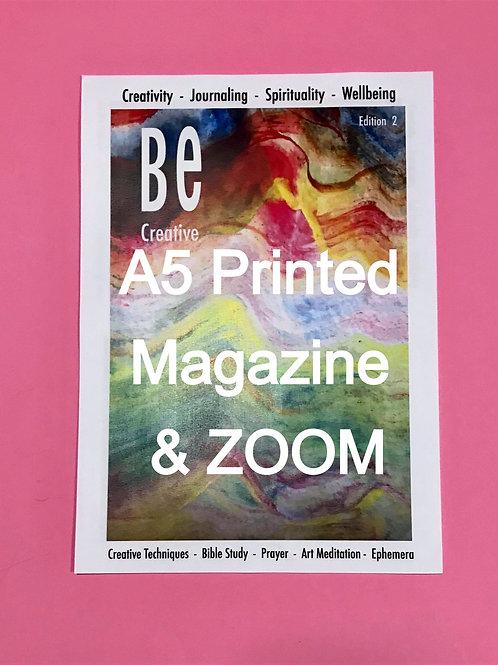 Zoom Meetings & Beginners Guide to Bible Art Journaling. BE Creative Printed A5
