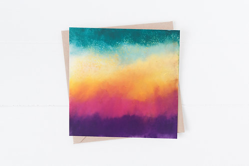 Blank Greeting Card. Greetings Cards. Rainbow colours