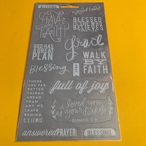 Christian Stickers. Bible Art Journaling Stickers.