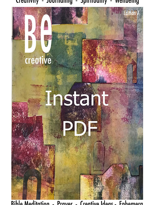 Be Creative 7 Magazine Guide to Bible Art journaling. Edition 7