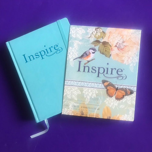 NLT Inspire Colouring Bible, Turquoise