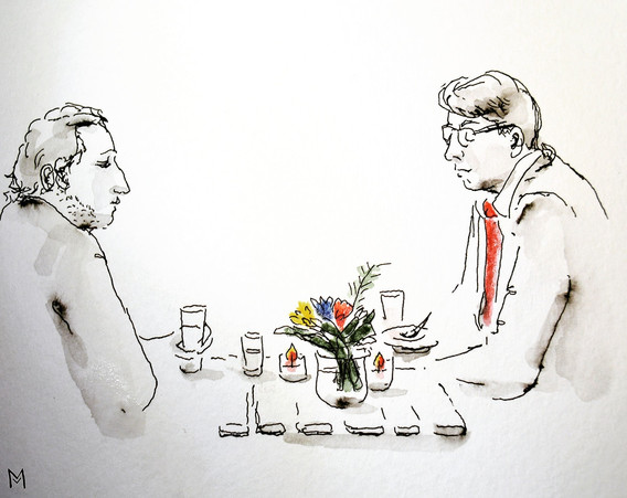 Cocktail chic champêtre croquis événemen