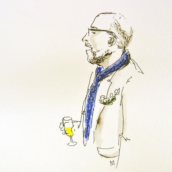 Manager & champagne soirée d'entreprise