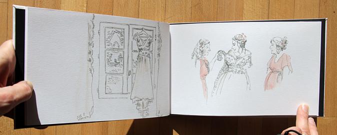 habillage de la mariée carnet dessiné marine et benoit.JPG