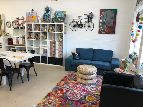 Studio sitting area.