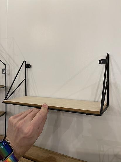 Black loft shelf