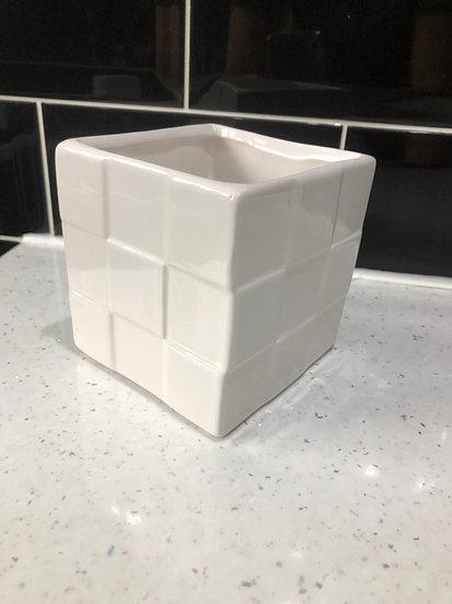 8cm white cube 3