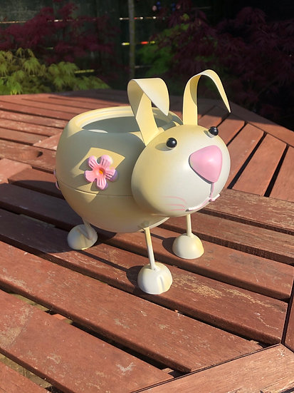 Metal Bunny Table Planter