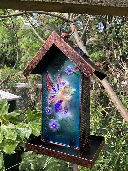 Fairy solar bird feeder