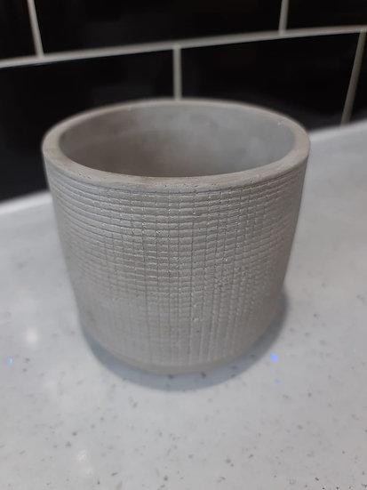 9cm geo concrete pot 3