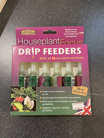 House plant focus drip feeder 6x38ml