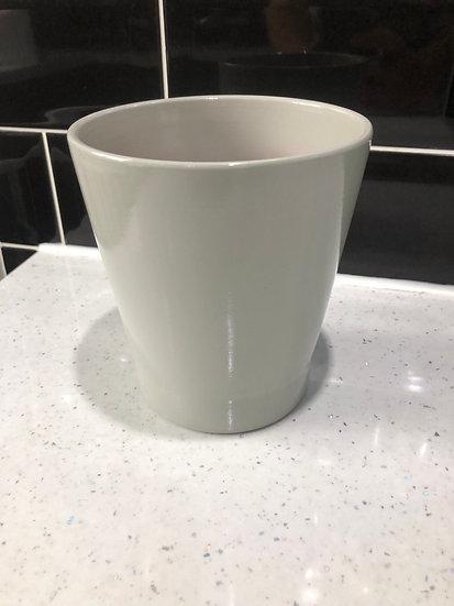 12cm plain grey pot