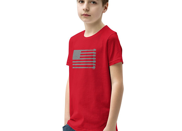 GnG Flag Guitars Only Youth Tee (Grey)