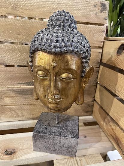Gold ornamental Buddha head