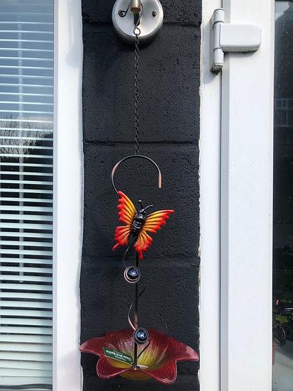 Butterfly Hanging Bird Bath