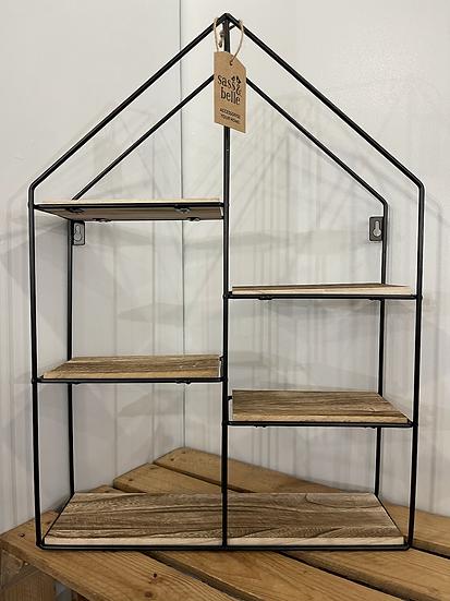 Large black house shelf