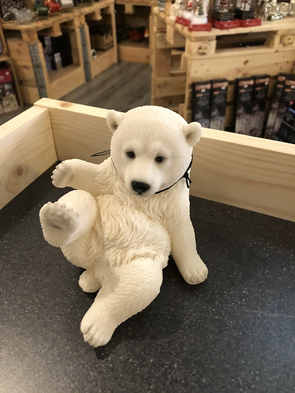 Vivid polar bear sitting