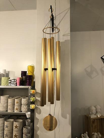 HUGE gold / rose gold metal wind chime