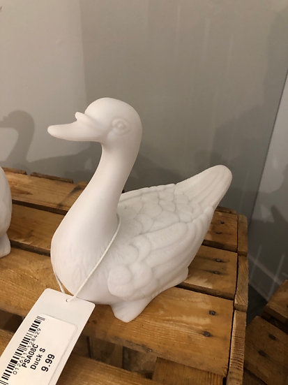 Marble resin duck small