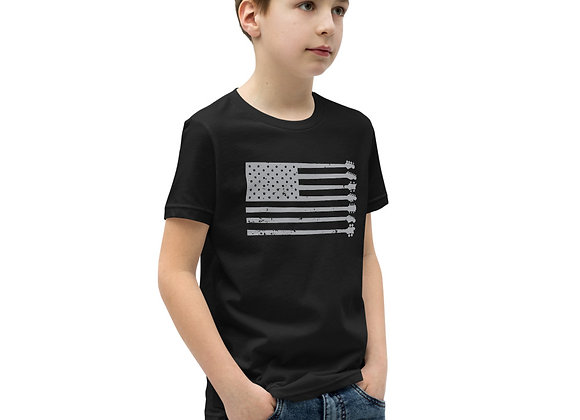 GnG Flag Guitars Only Youth Tee (Grey Logo)