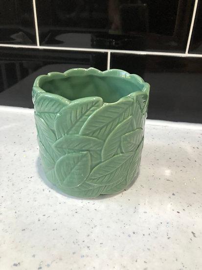 9cm green leaf pot