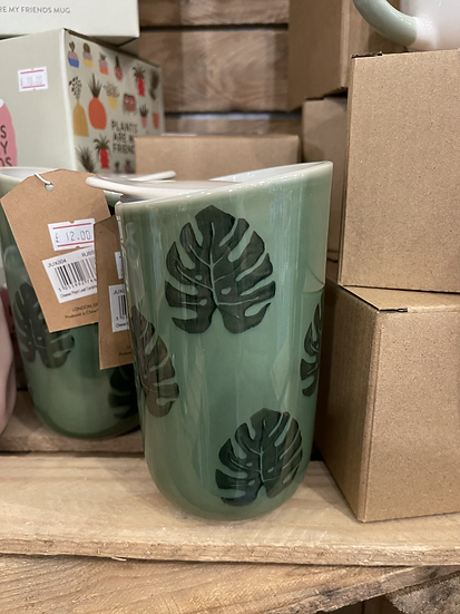 Cheese plant ceramic coffee cup