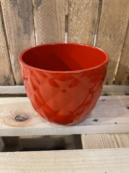 Geometric pot red 15cm