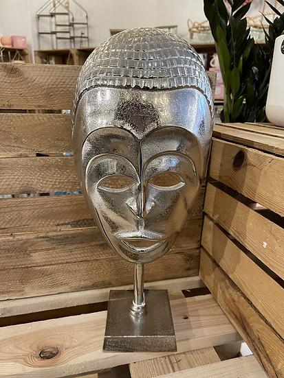 Silver metal tribal mask