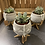Thumbnail: Succulent in concrete bent leg pot