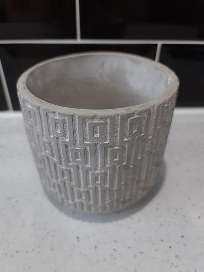 10cm geo concrete pot 1