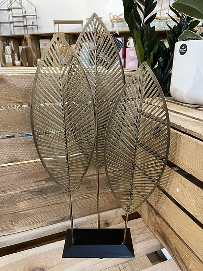 51cm 3 gold standing leaves