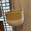 Thumbnail: Bamboo hanging planter white 16cm