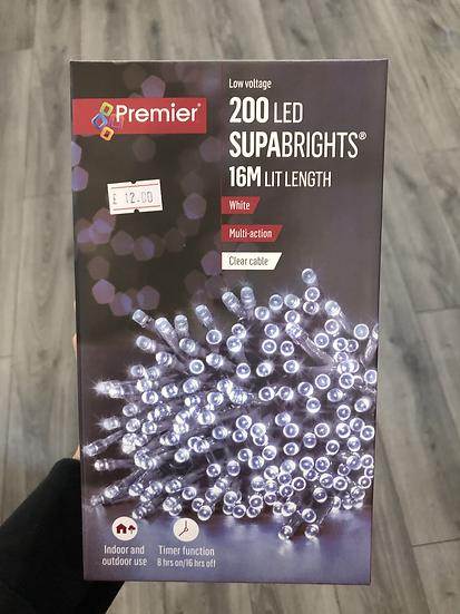 200 cool white LED's