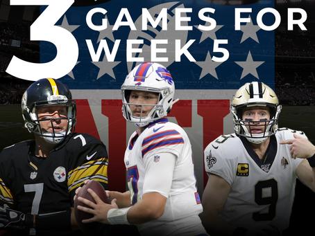 Top 3 Games of Week 5
