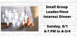 Small Group Leader Interest Meal