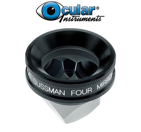 Ocular Sussman Four Mirror Hand Held Gonioscope with Large Ring