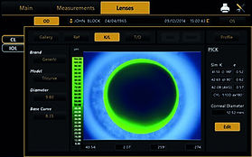 Topcon CA-800 Contact lens fitting simul
