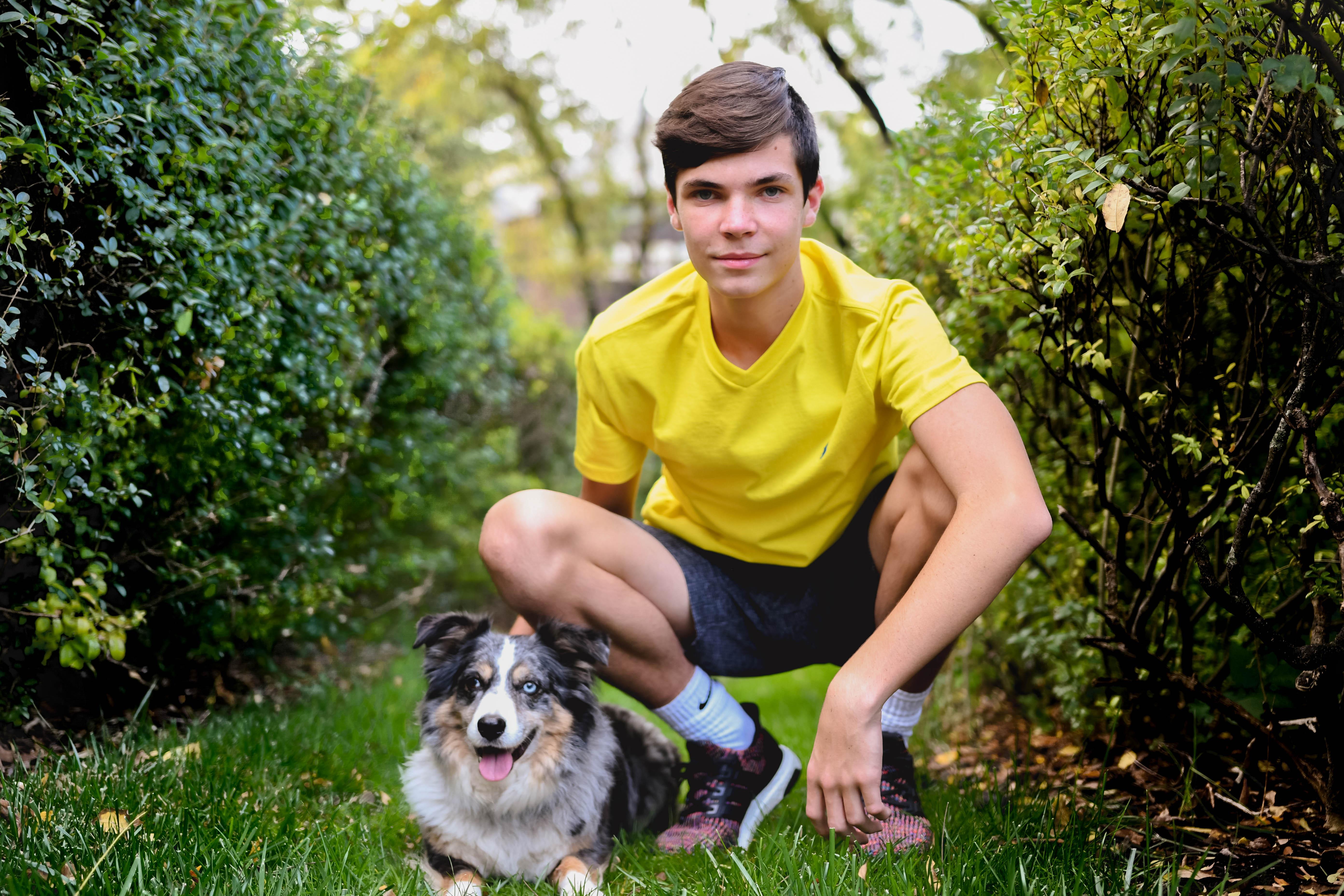 Senior Portraits with Dog