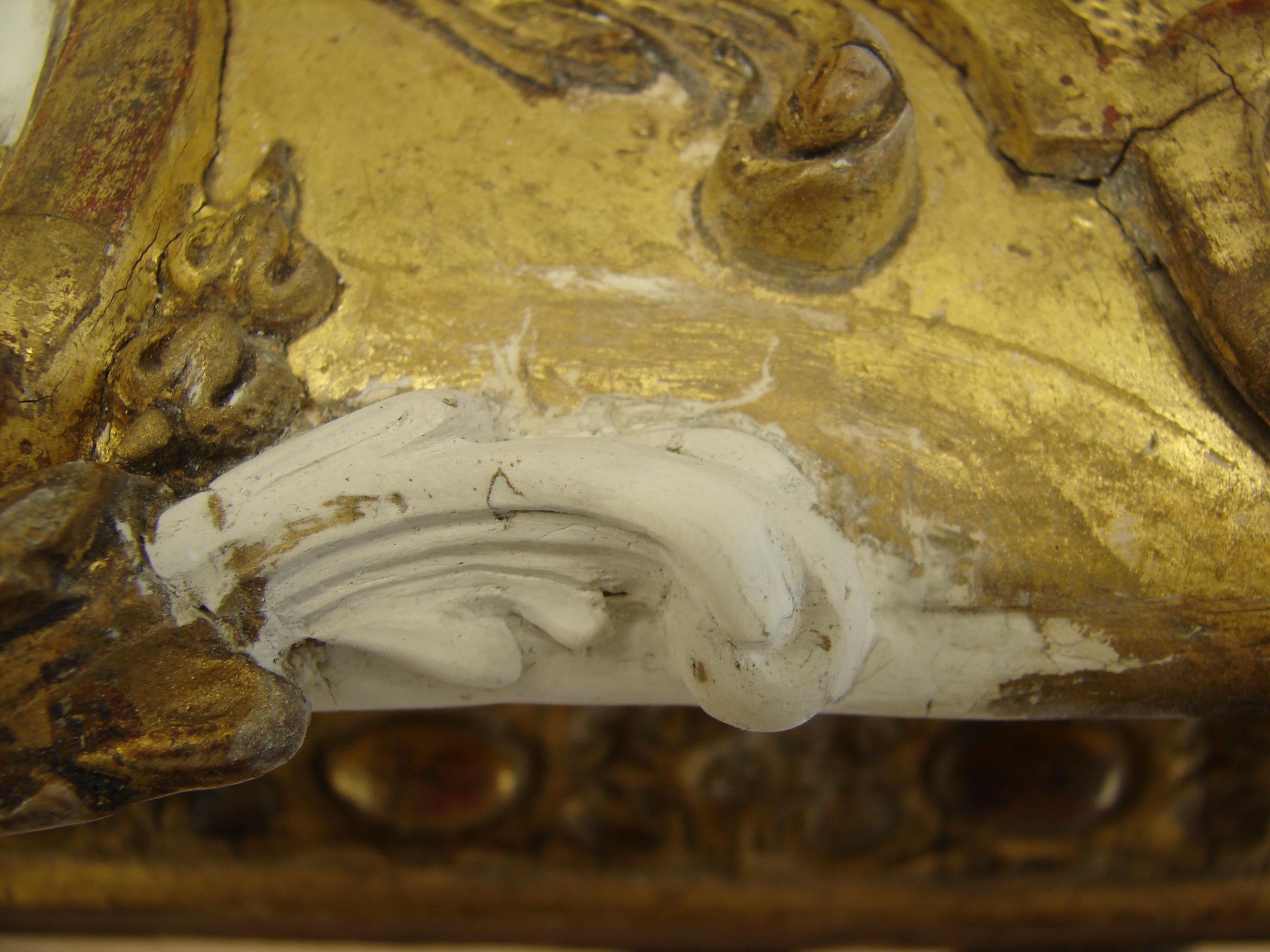 Restauration d'un cadre doré