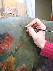 Réintégration colorée avec des pigments vernis