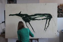 Restauration - tableau contemporain